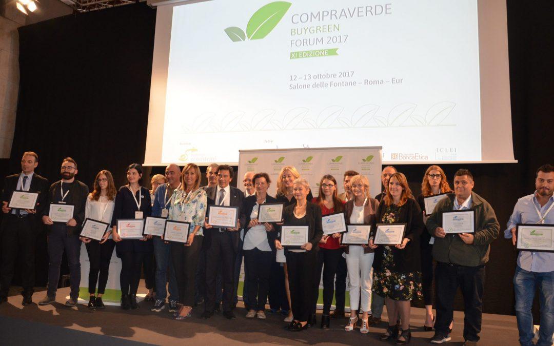 Premi Forum CompraVerde-BuyGreen 2017