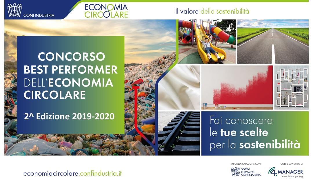 """""""Best Performer dell'Economia Circolare"""", al via il concorso che premia le imprese sostenibili"""