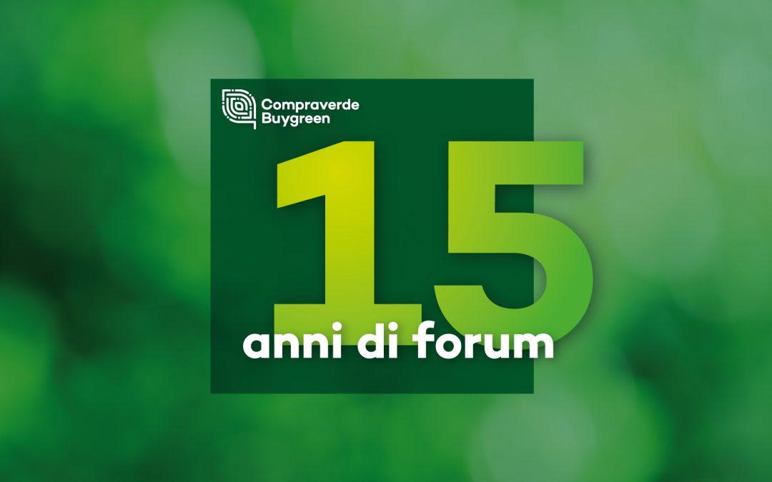 """15 anni di Forum Compraverde. Come siamo diventati """"Gli Stati Generali degli acquisti verdi"""""""